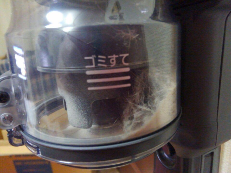 Panasonic(パナソニック)スティック掃除機パワーコードレスで取れたゴミ