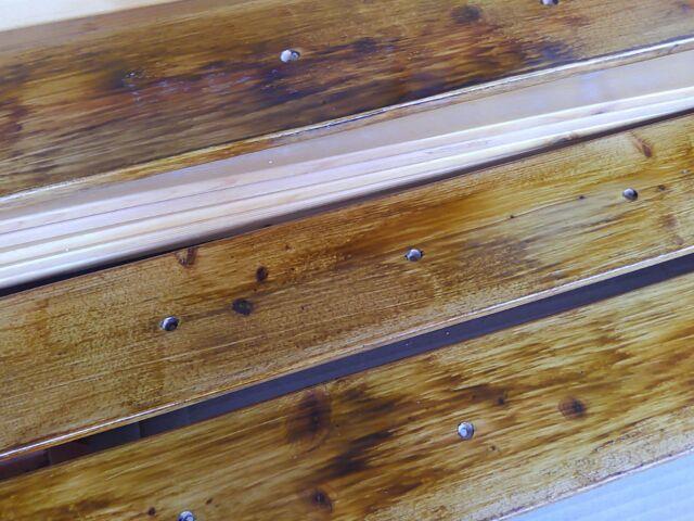 【DIY】窓下壁面、折り畳み式棚受けを利用したカウンター作り方「天板を作るよ!」4