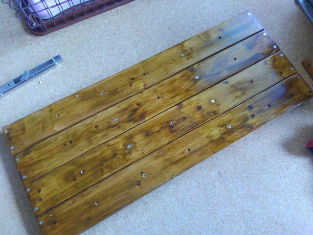 【DIY】窓下壁面、折り畳み式棚受けを利用したカウンター作り方2「棚板を完成させよう!」8