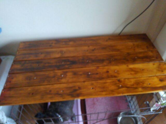 【DIY】窓下壁面、折り畳み式棚受けを利用したカウンター作り方2「棚板を完成させよう!」2