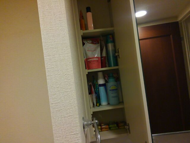 【100回捨てはじめました~67】洗面台の収納棚 洗面用具は必要最低限に「afterはこんな感じ」4